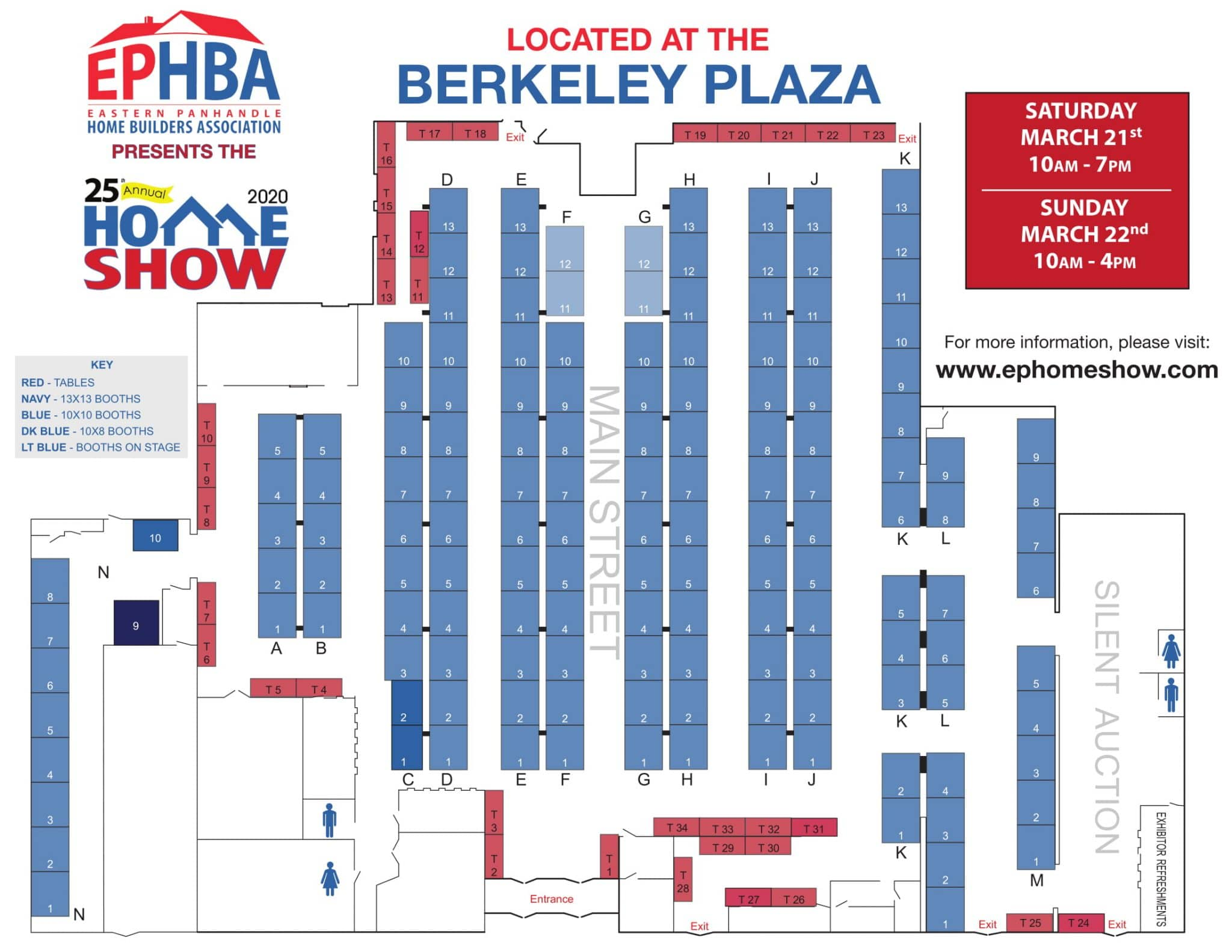 map of booth numbers for the homeshow