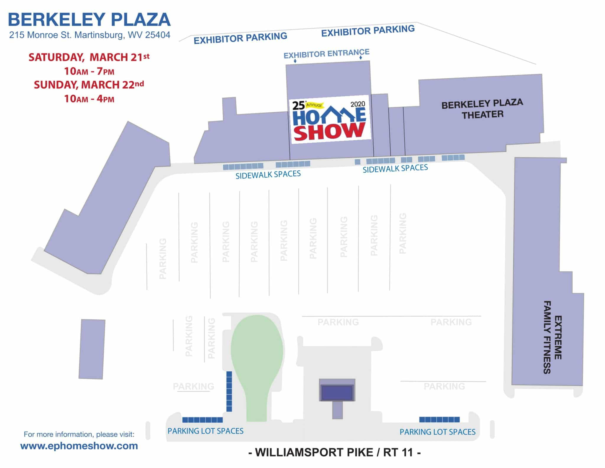 map of building where the home show will be